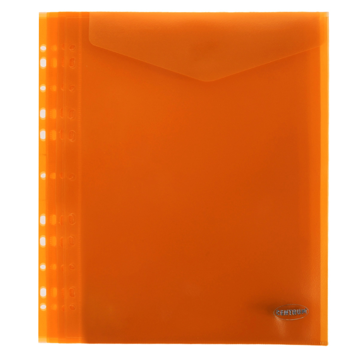 Папка-конверт Centrum, вертикальная, с перфорацией, цвет: оранжевый. Формат А4, 10 штAC-2233_серыйПапка-конверт Centrum - это удобный и практичный офисный инструмент, предназначенный для хранения и транспортировки рабочих бумаг и документов формата А4. Папка изготовлена из полупрозрачного матового пластика, имеет перфорацию. В комплект входят 10 папок формата А4. Папка-конверт - это незаменимый атрибут для студента, школьника, офисного работника. Такая папка надежно сохранит ваши документы и сбережет их от повреждений, пыли и влаги.