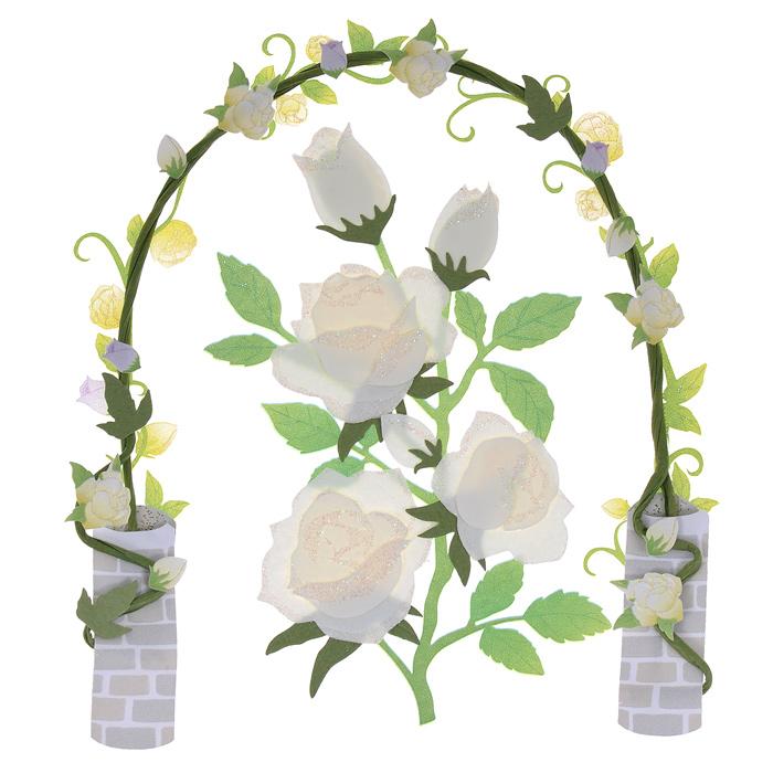 """Стикеры 3D EKSuccess Tools """"Розы в саду"""" прекрасно подойдут для оформления творческих работ в технике скрапбукинга. Их можно использовать для украшения фотоальбомов, скрап-страничек, подарков, конвертов, фоторамок, открыток и т.д. Стикеры оформлены в виде роз и арки. Задняя сторона клейкая. В наборе - 2 стикера разного размера и дизайна. Скрапбукинг - это хобби, которое способно приносить массу приятных эмоций не только человеку, который этим занимается, но и его близким, друзьям, родным. Это невероятно увлекательное занятие, которое поможет вам сохранить наиболее памятные и яркие моменты вашей жизни, а также интересно оформить интерьер дома. Размер арки: 8,5 см х 10,5 см. Размер роз: 5 см х 8,5 см."""