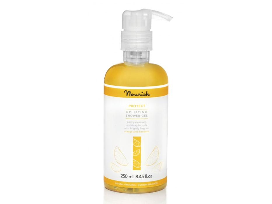 Nourish Гель для душа Protect, с экстрактом цитрусовых, для сухой кожи, 250 мл nourish набор миниатюр для сухой кожей лица nourish protect mini kit 50 мл 50 мл 15 мл 15 мл