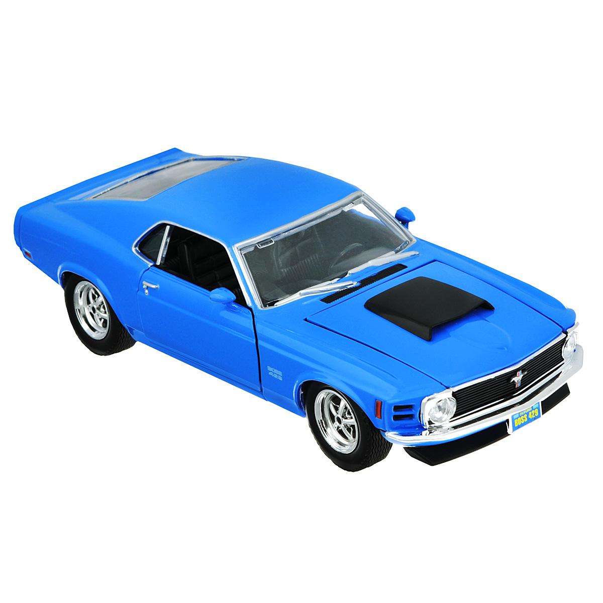 MotorMax Модель автомобиля Ford Mustang Boss 429 1970 motormax трансформирующийся в аэропорт