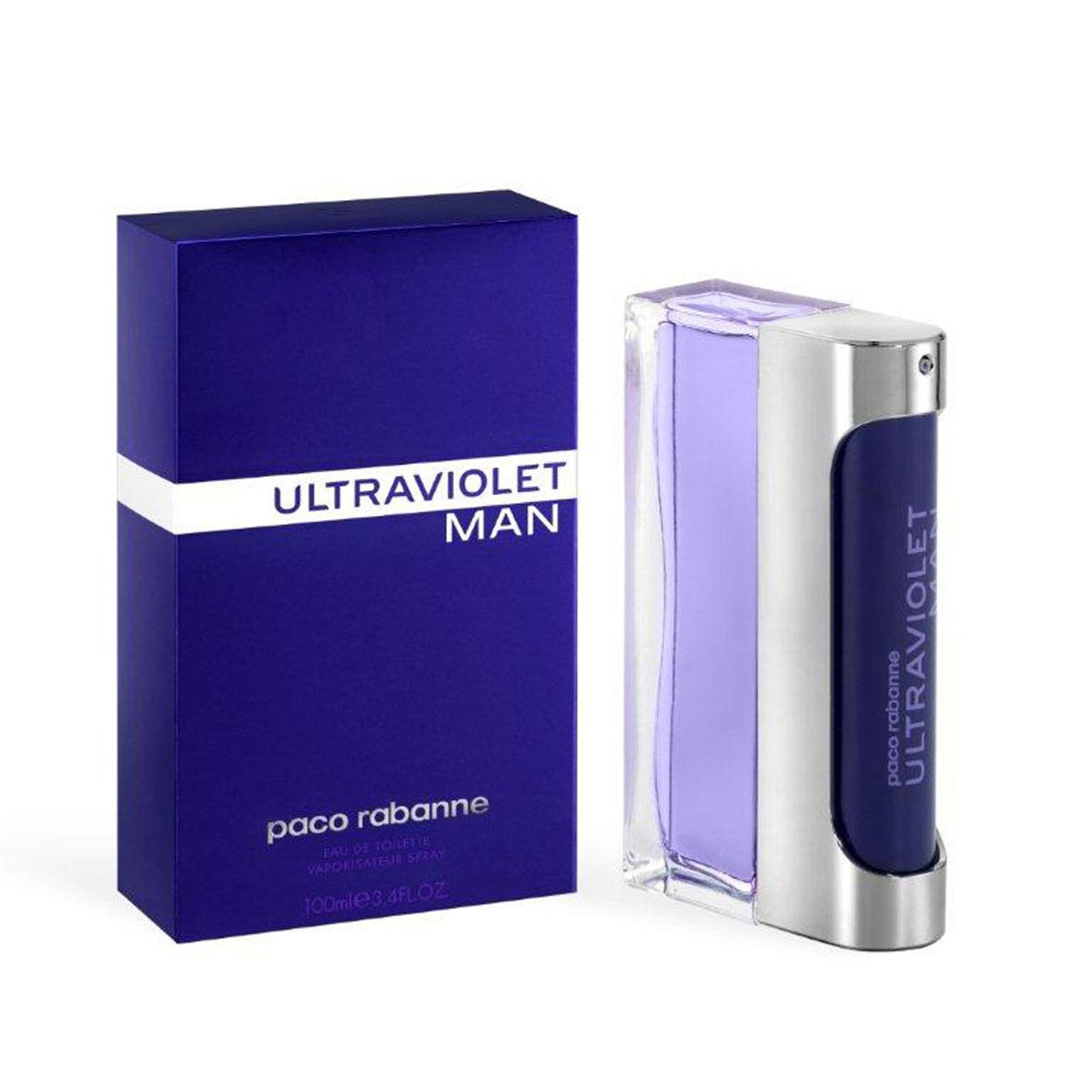 Paco Rabanne Туалетная вода Ultraviolet Man, мужская, 100 мл1092018Герой аромата Ultraviolet от Paco Rabanne ценит новые технологии и не боится отличаться от других. Его привлекает только лучшее. Свежий, древесный, амбровый аромат, олицетворяющий истинно мужскую чувственность, был воссоздан благодаря технологии NATURE PRINT. Сначала аромат раскладывают на молекулы и анализируют, затем идентифицируют и с точностью воссоздают наиболее чистые, устойчивые, лучшие ноты. Начальные ноты аромата – это жидкая мята. Ноты сердца звучат органическим ветивером и кристаллическим мхом. Базовые ноты – это серая амбра.Верхняя нота: Русский кориандр, итальянская мята.Средняя нота: Черный перец из Танзании, серая амбра.Шлейф: Пачули из Индонезии, дубовый мох.Руский кориандр, итальянская мята - яркие неземные аккорды аромата.