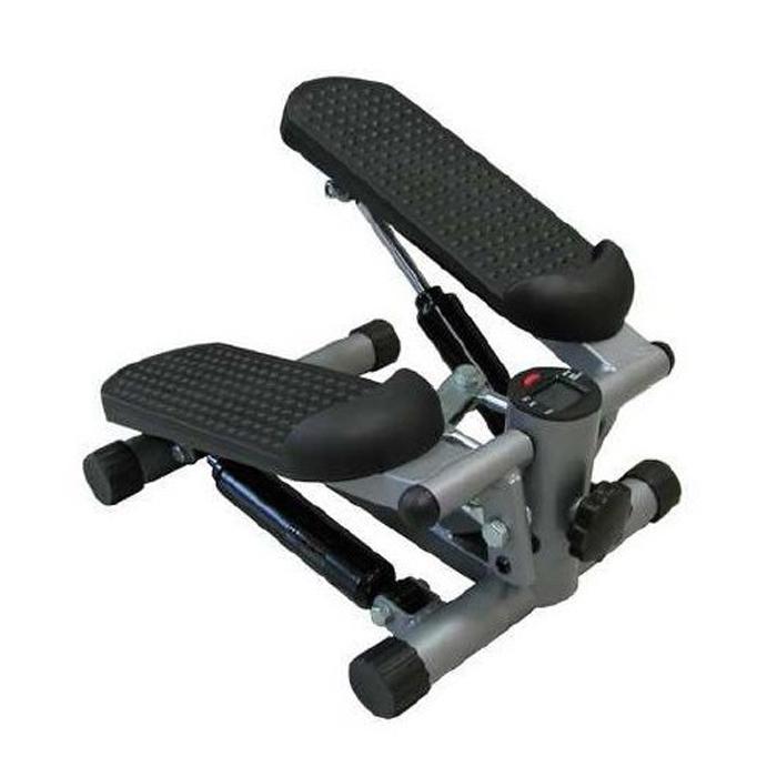 Степпер Sport Elit SE-5105, цвет: серый, 34 см х 20 см 42 смSF147A-1137Мини-степпер Sport Elit SE-5105 это удобный и компактный тренажер, позволяющий заниматься спортом в ограниченных пространствах. Степперы создают нагрузку на мышцы ног, ягодиц и брюшного пресса.Особенности степпера:Угол наклона педалей можно увеличить, закручивая фиксатор.Угол наклона можно уменьшить, открутив фиксатор.Амплитуду педалей можно регулировать, покрутив фиксатор, расположенный спереди.Компьютер:Count: показывает количество шагов.Time: показывает время тренировки.Calorie: показывает количество потраченных калорий за время тренировки.Reps/min: показывает среднее количество шагов в минуту.Scan: последовательно отображает значения функций в следующем порядке: Count - Time - Calorie - Reps/min.Назначение красной кнопки:Выбор нужной функции.При удержании кнопки в течение 3 секунд, сбрасываются все показатели.