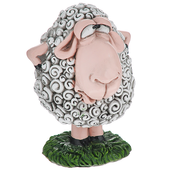 Статуэтка декоративная Comical World Овечка, цвет: серый, зеленыйFS-80299Оригинальная декоративная статуэтка Comical World Овечка выполнена из полистоуна в виде овечки, которая стоит на лужайке. Такая статуэтка - отличный вариант для новогоднего подарка для ваших близких и друзей.