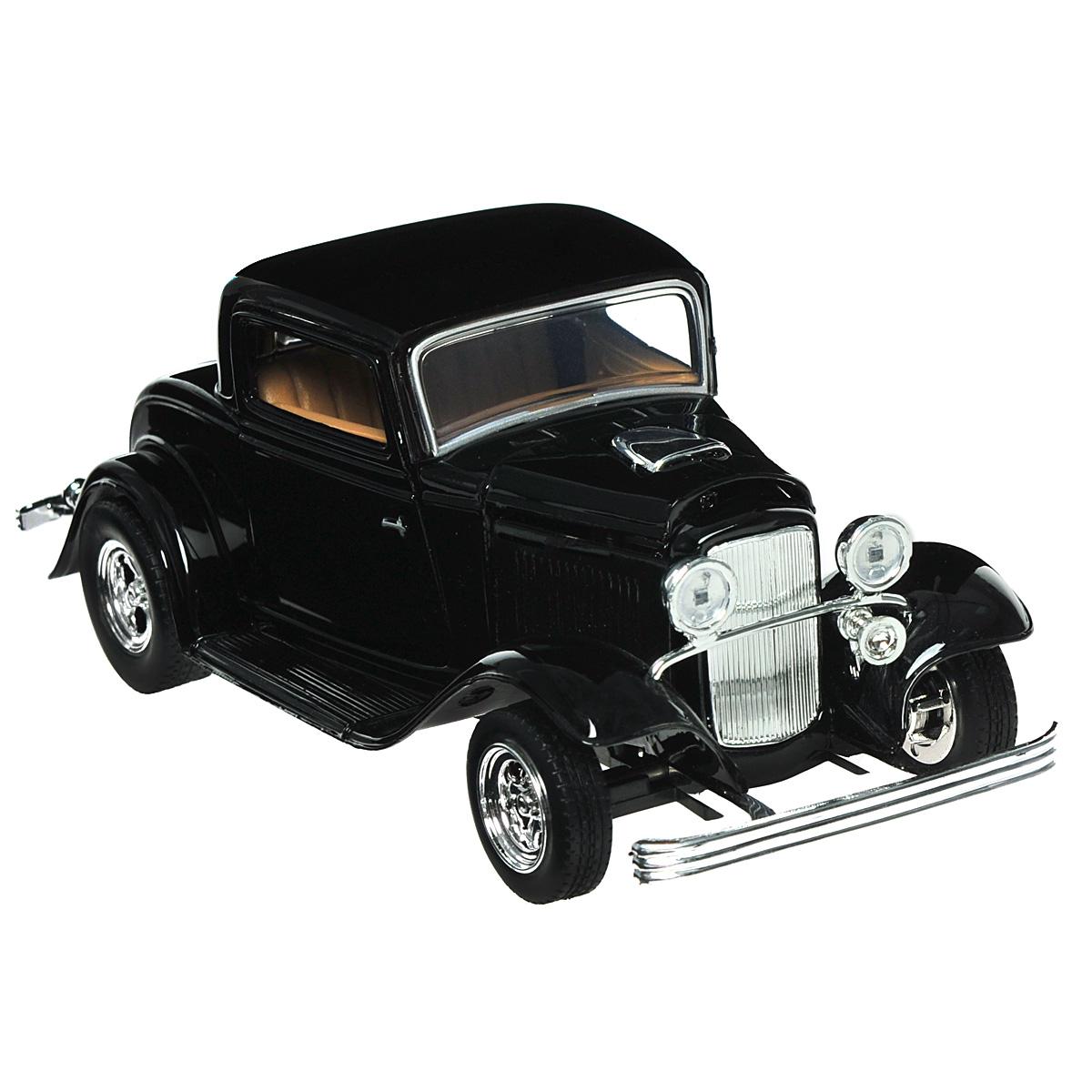 Коллекционная модель MotorMax 1932 Ford Coupe, цвет: черный. Масштаб 1/24 motormax модель автомобиля corvette 1967 цвет черный