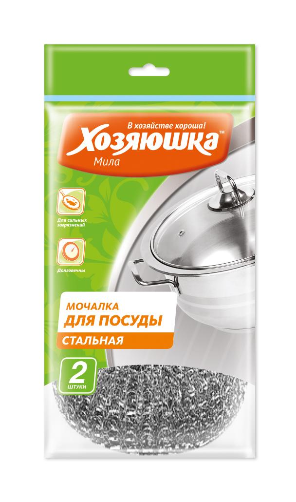 Мочалка для посуды Хозяюшка Мила, стальная, 2 шт531-105Стальные мочалки для посуды Хозяюшка Мила эффективно устраняют сильные загрязнения. Имеют долгий срок службы, не окисляются. Прекрасно справляются с очисткой грилей, барбекю, решеток и других предметов для жарки. Не использовать для мытья антипригарных поверхностей, пластиковых и эмалированных предметов и других деликатных поверхностей. Размер мочалки: 8 х 8 х 2 см.