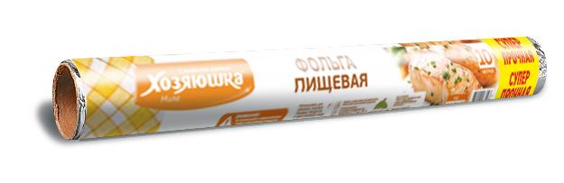 Фольга пищевая Хозяюшка Мила, суперпрочная, 10 м х 45 см09009Фольга пищевая Хозяюшка Мила применяется для хранения и запекания продуктов. Прекрасно сохраняет полезные свойства продуктов, позволяет длительно хранить продукты питания. При запекании предотвращает разбрызгивание сока и жира, делает блюда сочными, аппетитными и полезными. Широкое полотно позволяет хранить и запекать крупные куски мяса и рыбы, овощей.