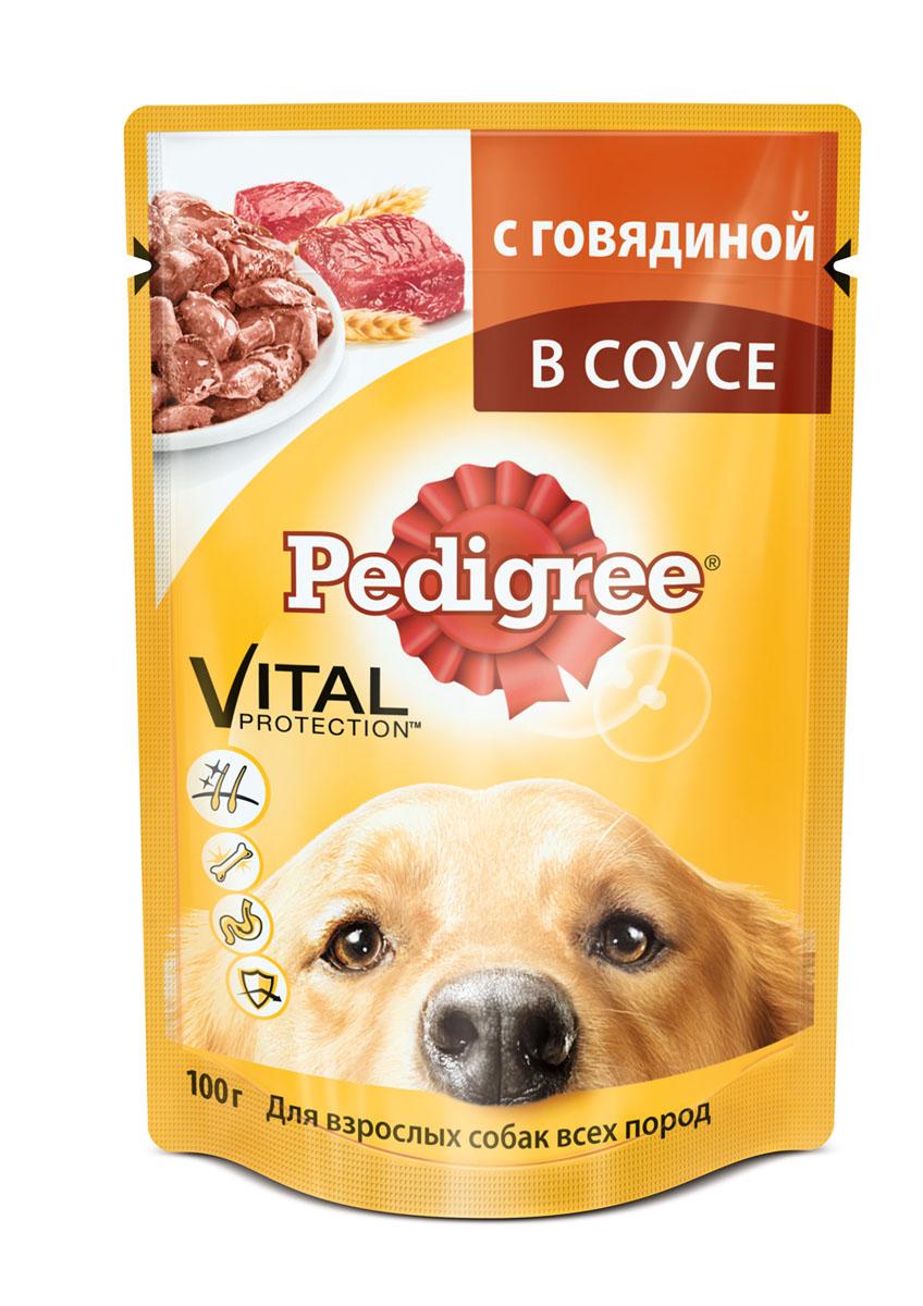 Консервы Pedigree для взрослых собак всех пород, с говядиной в соусе, 100 г10058Консервы Pedigree - это порция сочных мясных кусочков, которая обеспечит организм собаки витаминами и микроэлементами, необходимыми ей для здоровой и активной жизни. Корм способствует отличному пищеварению благодаря качественным высокоусвояемым ингредиентам и специально подобранной клетчатке. Здоровье кожи и шерсти поддерживает Омега-6 жирные кислоты, цинк и витамины группы В. Консервы укрепляют иммунитет и снижают негативное воздействие окружающей среды, обеспечивают комплексом антиоксидантов, в том числе витамином Е. Не содержат сои, консервантов, ароматизаторов, искусственных красителей и усилителей вкуса.Состав: мясо и субпродукты (в том числе говядина минимум 4%), злаки, жом свекольный, растительное масло, витамины, минеральные вещества.Пищевая ценность в 100 г: белки - 7 г, жиры - 3,5 г, зола - 2,5 г, клетчатка - 0,3 г, влага - 82 г, кальций - 0,1 г, цинк - 2 мг, витамин А - 130 МЕ, витамин Е - не менее 1 мг. Энергетическая ценность в 100 г: 70 ккал/293 кДж.Товар сертифицирован.