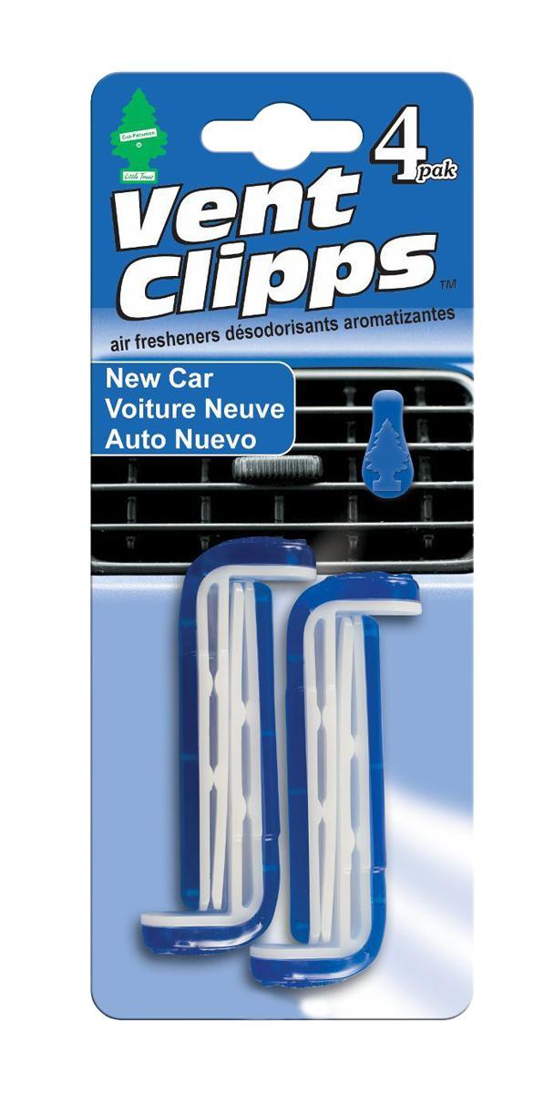 Ароматизатор Car-Freshner Vent Clipps аромат New Car (Новая машина)CA-3505Car-Freshner Vent Clipps устанавливается в дефлектор вентиляции автомобиля. Уникален по эффективности действия, насыщенности и стойкости запаха. В упаковке 4 штуки.