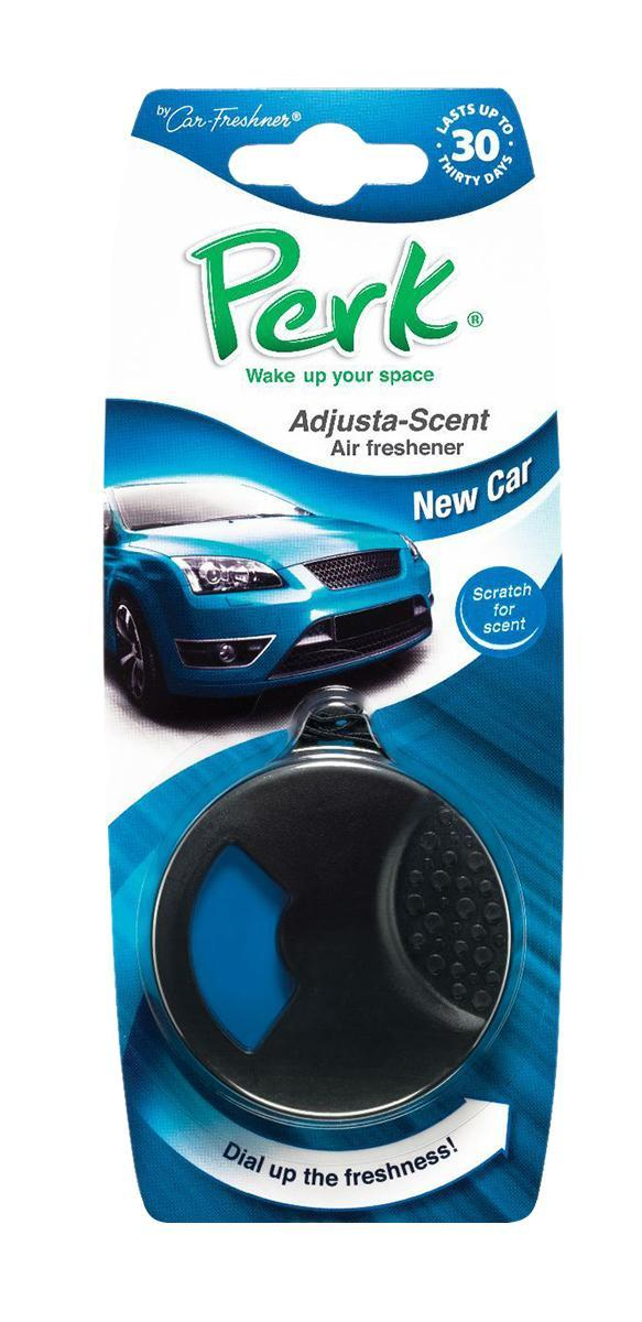Ароматизатор подвесной с дозатором Perk Новое авто (New Car)3552/03Подвесной ароматизатор Perk с дозатором уникален по эффективности действия, насыщенности и стойкости запаха. Подходит для использования в салоне автомобиля, а также в помещениях. 100% спрессованная целлюлоза, не токсичные отдушки