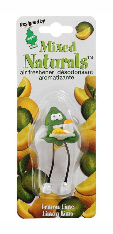 Ароматизатор Car-Freshner Mixed Naturals Лайм с лимономRC-100BPCОригинальный ароматизатор Car-Freshner Mixed Naturals, выполненный в виде забавной фигурки, эффективно нейтрализует посторонние запахи и наполняет воздух яркими насыщенными ароматами.Подвесьте ароматизатор за шнурок в любом удобном месте - в салоне автомобиля, дома или в офисе - и получайте удовольствие!Характеристики: Размер ароматизатора:8 см x 4 см x 4 смИзготовитель:КитайАртикул:CTK-51802