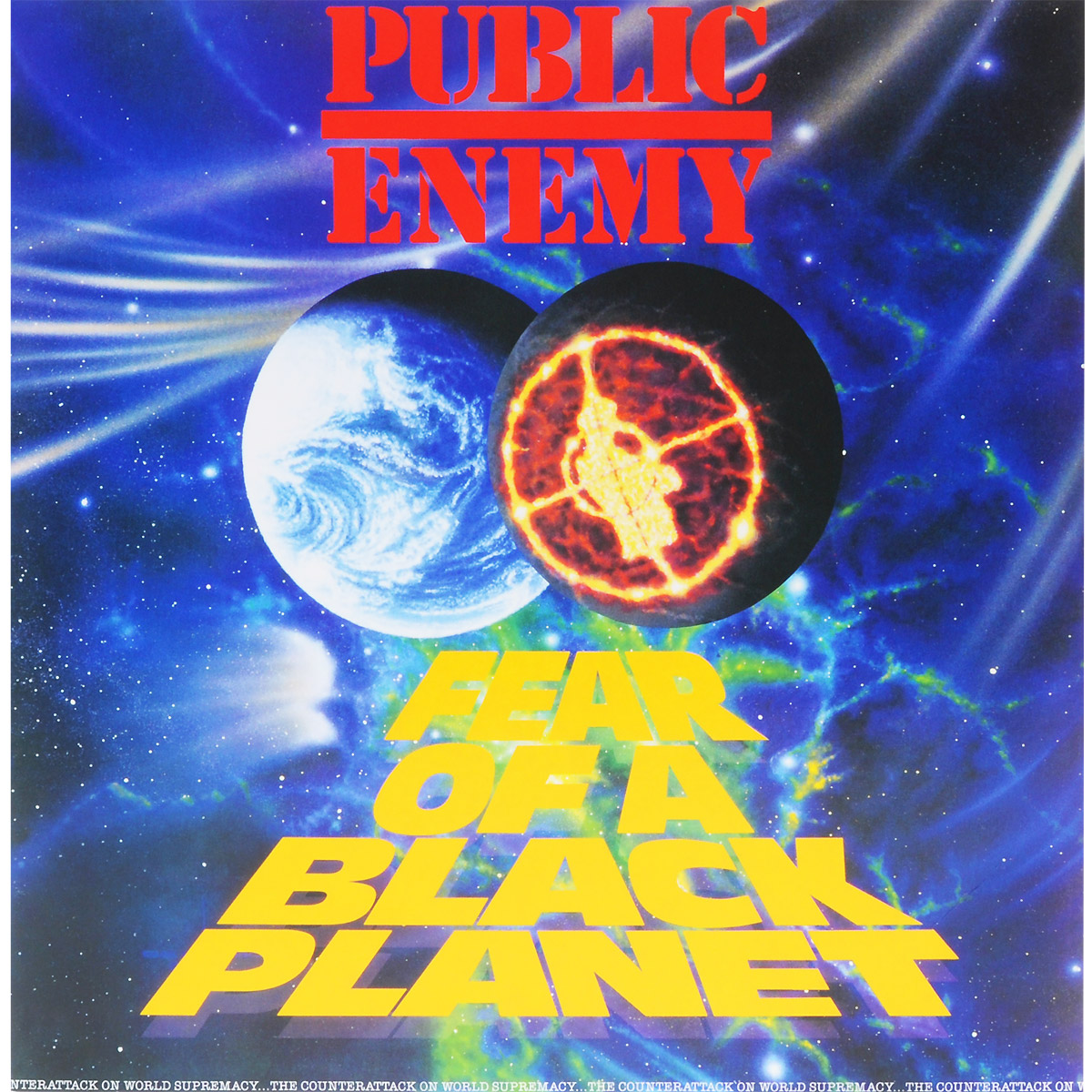 Public Enemy Public Enemy. Fear Of A Black Planet (LP) confronting a faceless enemy