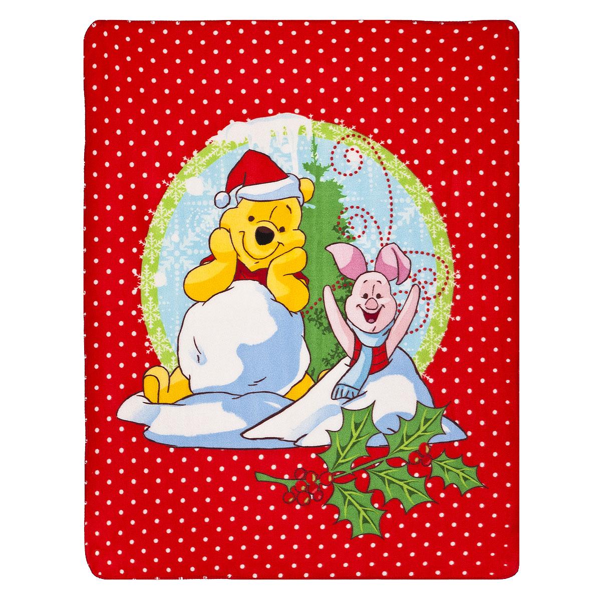 Плед флисовый новогодний Disney Винни и его друзья, 130 см х 160 см531-105Мягкий и уютный плед Disney Винни и его друзья, изготовленный из флиса, согреет в прохладные вечера и сделает ваш дом уютным. Плед не скатывается и не вызывает аллергии, легко стирается и быстро сохнет. Изделие оформлено новогодним принтом и красочным изображением Винни Пуха и Пятачка. Плед хорошо впишется в интерьер детской и создаст атмосферу гармонии и уюта. Пледом можно уютно укрыться дома или взять с собой в путешествие.