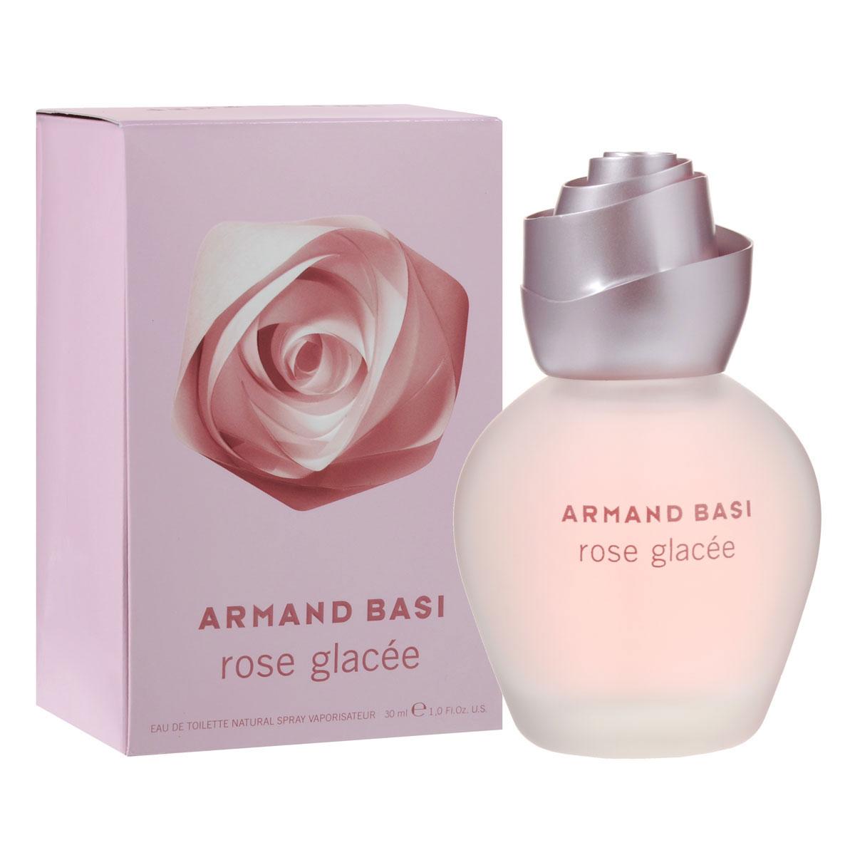"""Armand Basi Туалетная вода Rose Glacee, женская, 30 мл28032022Органичная и геометричная, роза является сердцем и вдохновением нового аромата от Armand Basi, который открывает перед нами мир сущности цветка. Его концепция усовершенствована и обновлена выведением на игровое поле главного игрока - геометрии. Роза - это символ совершенства. Универсальный цветок, признанный во всем мире воплощением тайны женщины. Это самый безупречный цветок. Ее красота радует глаз; ее аромат роскошный, превосходный, пьянящий, нежно-бархатный и хрупкий. И в то же время он обманывает, бунтует и отклоняется от всех мыслимых стандартов: шипы ранят руку каждого, кто осмелится срезать розу.Glacee - французское слово, которое обозначает """"замороженный"""". Роза, закованная в ледяные цепи. Хранимая холодом, продлевающим жизнь ее красоты, она стоит непокорно и гордо. Обольстительная и прекрасная. Rose Glacee, имя нового аромата, воплощающего напряжение во внешнем проявлении. Теплая и холодная, спокойная и агрессивная, дружелюбная, но предающая, прекрасная, но эфемерная. Она совершенна в своей хрупкости, как и в своей обманности. Восхищаться ей - это испытывать обоснованную страсть к ее совершенству. Armand Basi Rose Glacee - это туманное очертание розы на закате. Свежесть, смешанная с нетерпением. Совершенство, замороженное во времени. Холод, что стимулирует и пробуждает. Форма спирали, что выбрасывается вперед. Завуалированный предмет удовольствия, словно обещание на будущее. Жажда жизни. Интенсивность молодости. Тайна, что постепенно раскрывается. Неудержимая и первобытная радость бытия.Классификация аромата: цветочный.Пирамида аромата:Верхние ноты: зеленое яблоко, грейпфрут, лимон.Ноты сердца: роза Пьяже, корица, абрикосовый нектар.Ноты шлейфа: светлое дерево, амбра, мускус.Ключевые словаСвежий, морозный, таинственный!Туалетная вода - один из самых популярных видов парфюмерной продукции. Туалетная вода содержит 4-10%парфюмерного экстракта. Главные достоинства данного типа продукции заключаются в """