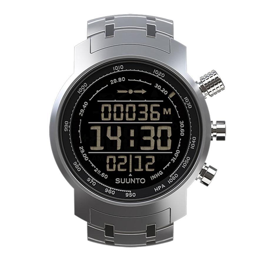 Часы спортивные Suunto Elementum Terra, цвет: стальнойSS014521000Suunto Elementum Terra — высококачественные часы ручной работы, выпускаемые исключительно в Финляндии. Часы премиум-класса, оформленные в городском стиле, представляют собой уникальный сплав традиционного мастерства ручного изготовления и точности цифровых технологий. Хотя часы серии отлично подходят для ношения в городе, они позволяют измерять высоту, предоставляют прогноз погоды и снабжены уникальным 3D-компасом для великих приключений на природе. Конструкция со стальным корпусом и сапфировым стеклом готова противостоять стихиям.Основные функции:Альтиметр.Текущее барометрическое давление и тенденция.3D-компас.Журнал: последние 8 подъемов/спусков, максимальная высота.