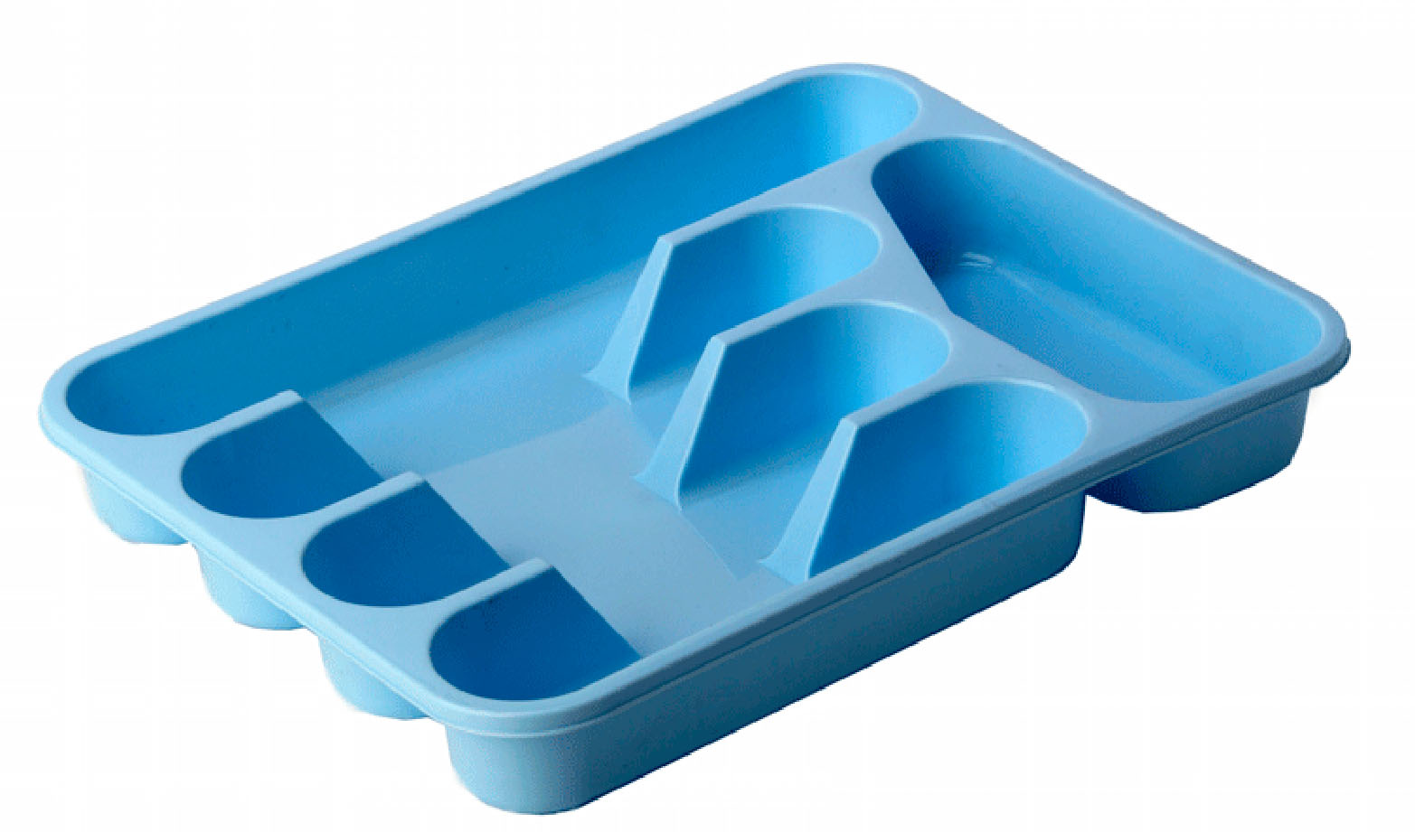 Лоток для столовых приборов Idea, цвет: голубой, 33 х 26 смВетерок 2ГФЛоток для столовых приборов Idea изготовлен из прочного пластика. Изделие имеет 3 одинаковых секции для столовых ложек, вилок и ножей, секцию для чайных ложек и длинную секцию для различных кухонных принадлежностей. Лоток помещается в любой кухонный ящик.
