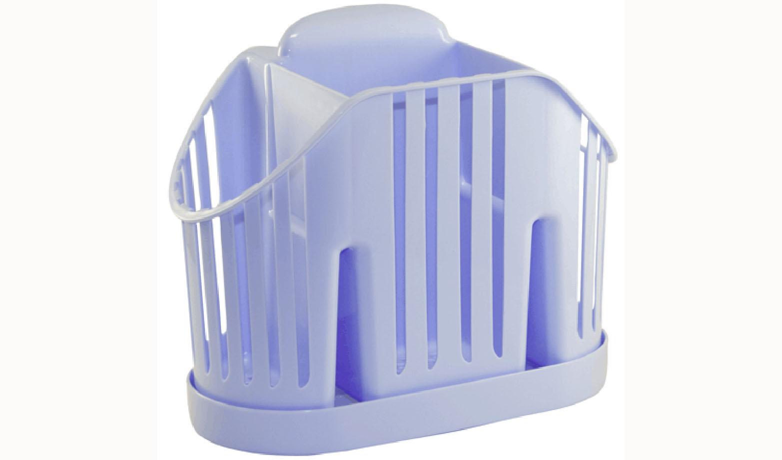 Подставка для столовых приборов Idea, цвет: голубой4630003364517Подставка для столовых приборов Idea, выполненная из высококачественногополипропилена, станет полезным приобретением для вашей кухни. Изделие оснащено 3 секциями дляразличных столовых приборов. Дно и стенки имеют перфорацию для легкого стока жидкости,которую собирает поддон.Такая подставка поможет аккуратно рассортировать все столовые приборы и тем самымподдерживать порядок на кухне.Размер подставки: 13,5 х 17,5 х 11 см.Размер поддона: 18,5 х 10 х 2 см.