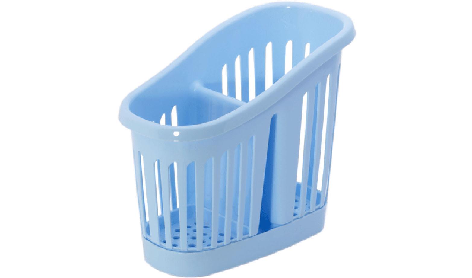 Подставка для столовых приборов Idea, цвет: голубой. М 1165Ветерок 2ГФПодставка для столовых приборов Idea, выполненная из высококачественного пластика, станет полезным приобретением для вашей кухни. Подставка имеет два отделения для разных видов столовых приборов. Дно и стенки отделений имеет перфорацию для легкого стока жидкости, которую собирает поднос. Такая подставка поможет аккуратно рассортировать все столовые приборы и тем самым поддерживать порядок на кухне.