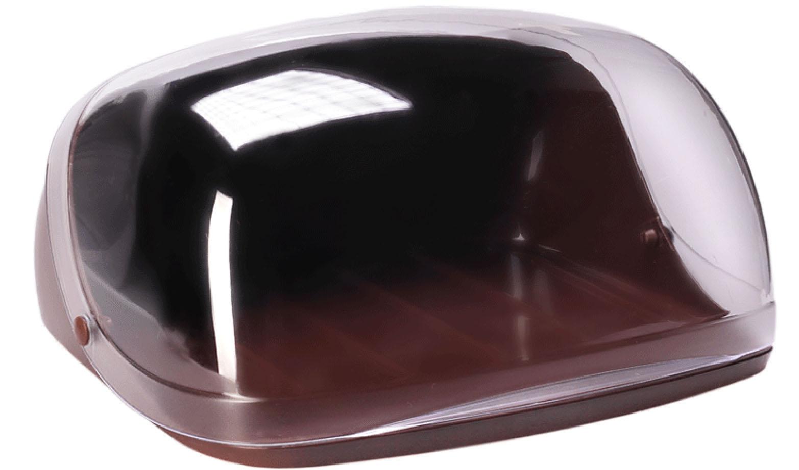 Хлебница Idea Кристалл, цвет: коричневый, прозрачный, 40 х 29 х 16 смМ 1181Хлебница Idea Кристалл, изготовленная из пищевого пластика, обеспечивает идеальные условия хранения для различных видов хлебобулочных изделий, надолго сохраняя их свежесть. Изделие оснащено плотно закрывающейся крышкой, защищающей продукты от воздействия внешних факторов (запахов и влаги).Вместительность, функциональность и стильный дизайн позволят хлебнице стать не только незаменимым аксессуаром на кухне, но и предметом украшения интерьера. В ней хлеб всегда останется свежим и вкусным.