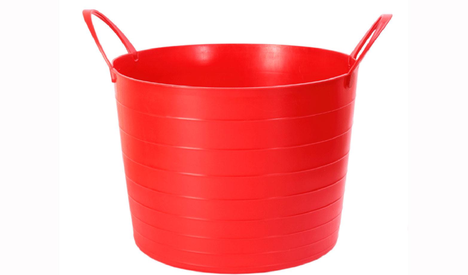 Корзина мягкая Idea, цвет: красный, 27 лМ 2881Мягкая корзина Idea изготовлена из гибкого пластика, оснащена двумя удобными ручками. Внутренняя поверхность имеет отметки литража. Такой корзинке можно найти множество применений в быту: она подойдет для строительства, для сбора фруктов, овощей и грибов, для хранения бытовых предметов. Такая корзина пригодится в любом хозяйстве.