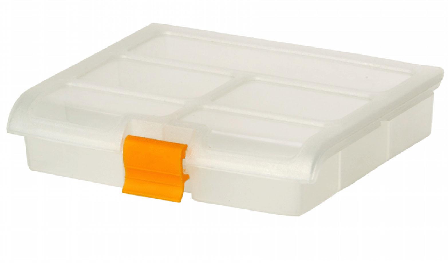 Блок для мелочей Idea, 16,5 см х 13,5 см х 3,5 смБрелок для ключейБлок Idea, выполненный из пластика, предназначен для хранения различных мелочей. Все внутреннее пространство блока разделено на 5 ячеек. Блок для мелочей Idea подходит для упорядоченного хранения принадлежностей для рукоделия, материалов для ремонта и строительства, рыболовных снастей, канцелярских товаров, медицинских препаратов. Случайное раскрытие крышки исключается благодаря надежной защелке.Размер ячеек: 14,5 см х 3,5 см, 2 х 7 см х 4 см, 2 х 7 см х 3,5 см.