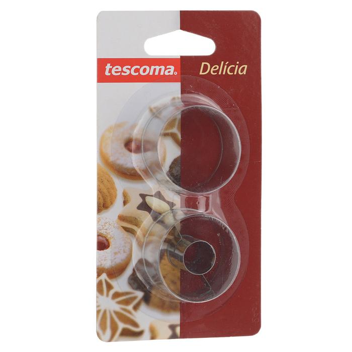 Набор форм для выпечки Tescoma Delicia, 2 предмета391602Набор Tescoma Delicia включает 2 формы для выпечки, выполненные из нержавеющей стали. Изделия имеют круглую форму и идеально подходят для приготовления печенья или пирожных. Одна формочка предназначена для приготовления печенья с начинкой. Оригинальный набор позволит приготовить выпечку по вашему любимому рецепту, но в оригинальном оформлении, которое придется по душе всей семье. Не мыть в посудомоечной машине.