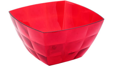 Салатник Idea Квадро, цвет: красный, 750 мл54 009312Салатник Idea Квадро изготовлен из высококачественного пластика и предназначен для сервировки стола. В таком салатнике можно подать к столу конфеты, небольшие фрукты, различные салаты. Салатник Idea Квадро станет прекрасным дополнением к коллекции вашей кухонной посуды.