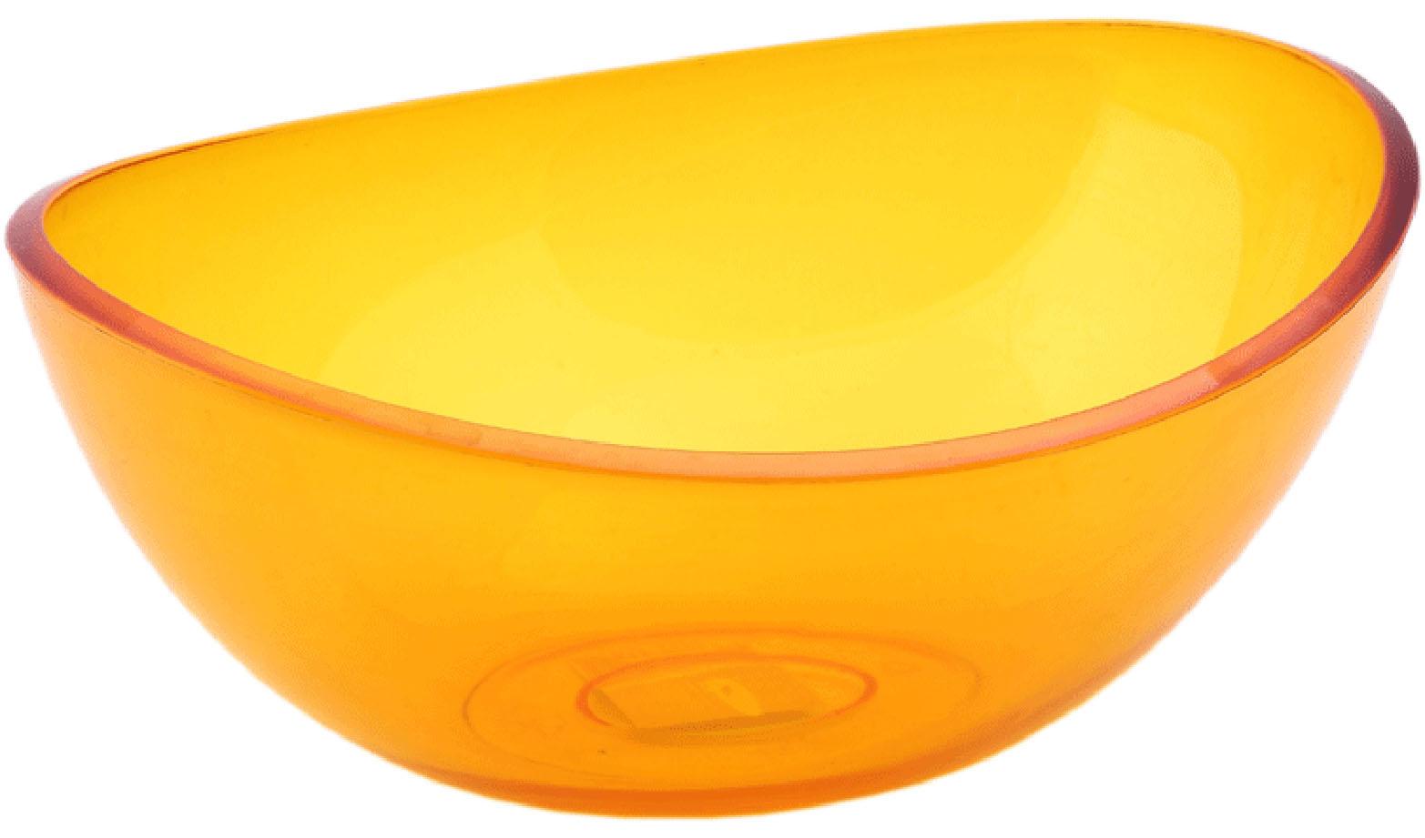 Салатник Idea Кристалл, цвет: оранжевый, прозрачный, 2,5 л68/5/3Салатник Idea Кристалл изготовлен из высококачественного пищевого полистирола. Такой салатник прекрасно подойдет для сервировки салатов, фруктов, ягод. Прекрасный вариант для дачи и отдыха на природе. Объем: 2,5 л . Размер (по верхнему краю): 27 см х 21,5 см. Высота стенки: 10 см.