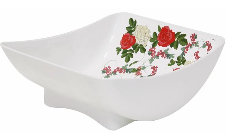 Салатник Idea Розы, 450 мл115510Салатник Idea Розы изготовлен из высококачественного пластика и идеально подходит для сервировки стола. Такой салатник не только украсит ваш кухонный стол и подчеркнет прекрасный вкус хозяйки, но и станет отличным подарком.