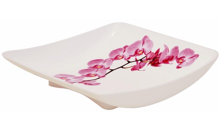 Блюдо Idea Деко. Орхидея, 24 х 25 см115510Блюдо Idea Деко. Орхидея, выполненное из высококачественного полипропилена, непременно придется вам по вкусу и добавит красок в интерьер вашей кухни. Изделие будет изящно смотреться на столе и порадует функциональностью. Блюдо не только украсит ваш стол и подчеркнет прекрасный вкус хозяйки, но и станет отличным подарком к любому празднику.Размер (по верхнему краю): 24 х 25 см.