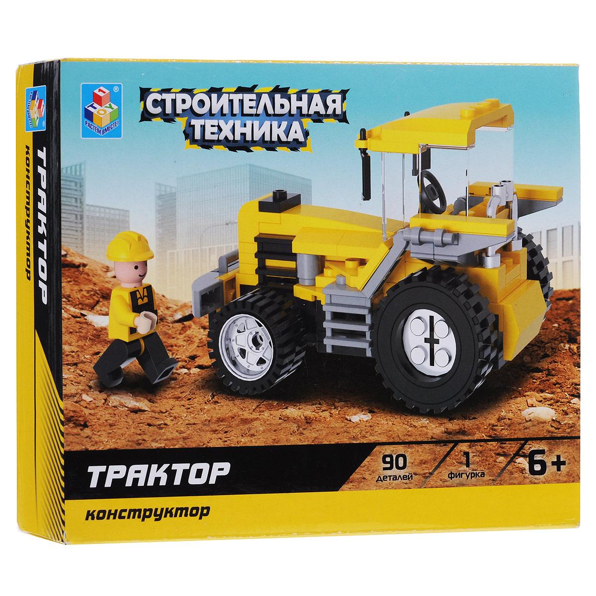 1TOY Конструктор Трактор