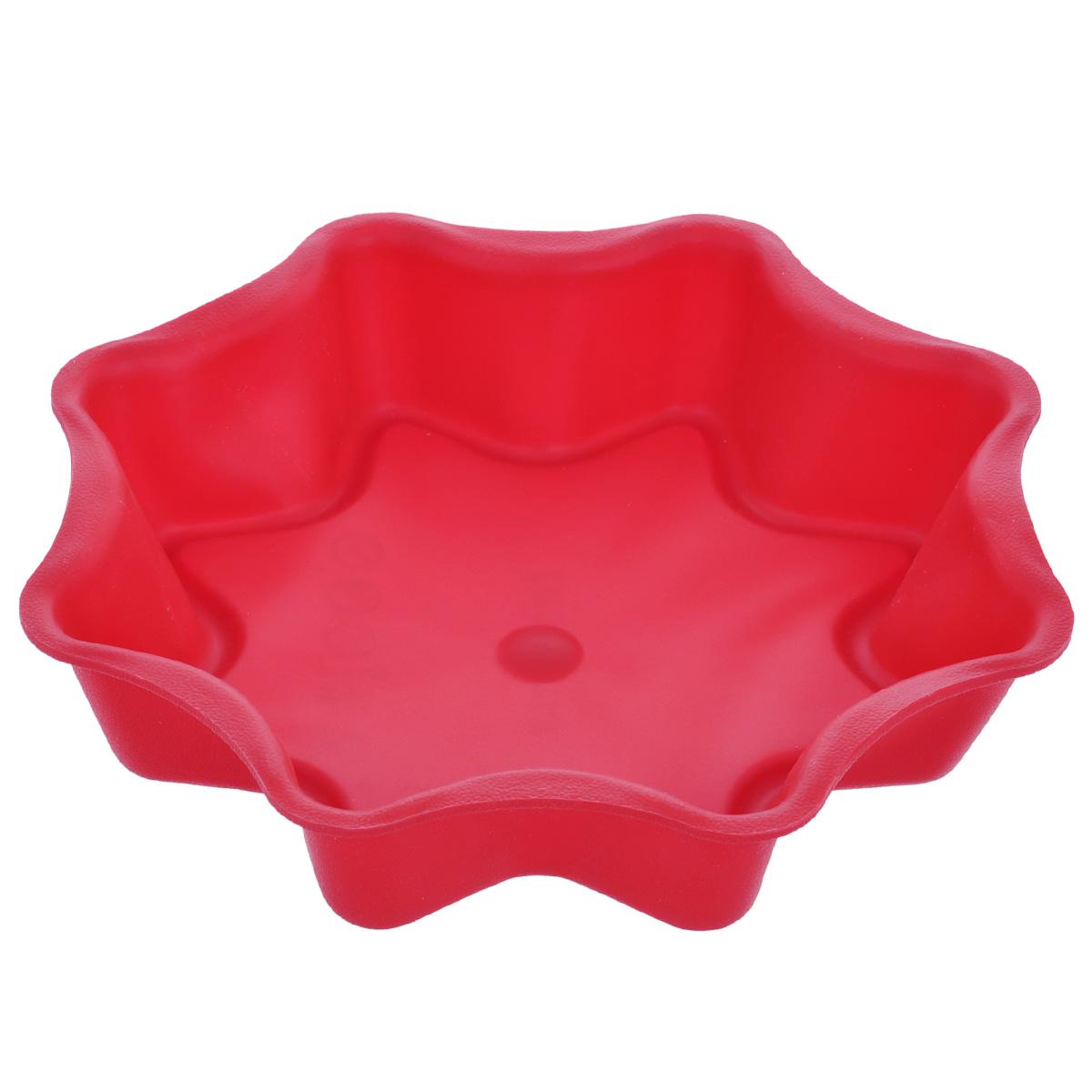 Форма для выпечки Tescoma Delicia Silicone, цвет: красный, диаметр 28 смSL-7060Форма Tescoma Delicia Silicone, выполненная в виде восьмиконечной звезды, будет отличным выбором для всех любителей выпечки. Благодаря тому, что форма изготовлена из силикона, готовую выпечку вынимать легко и просто. Форма прекрасно подходит для выпечки пирогов, тортов и других десертов. С такой формой вы всегда сможете порадовать своих близких оригинальной выпечкой. Материал изделия устойчив к фруктовым кислотам, может быть использован в духовках, микроволновых печах, холодильниках и морозильных камерах (выдерживает температуру от -40°C до 230°C). Антипригарные свойства материала позволяют готовить без использования масла.Можно мыть и сушить в посудомоечной машине. При работе с формой используйте кухонный инструмент из силикона - кисти, лопатки, скребки. Не ставьте форму на электрическую конфорку. Не разрезайте выпечку прямо в форме.