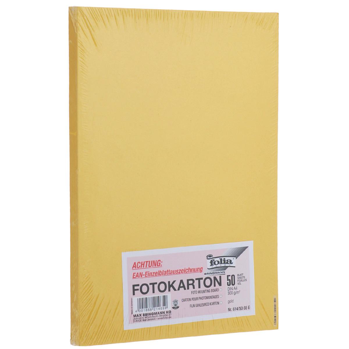 Фотокартон Folia, цвет: золото, 21 х 30 см, 50 листов. 7708058_65Е72523WDФотокартон Folia - это цветной плотный картон. Используется для изготовления открыток, пригласительных, для скрапбукинга, для изготовления паспарту и других декоративных или дизайнерских работ.