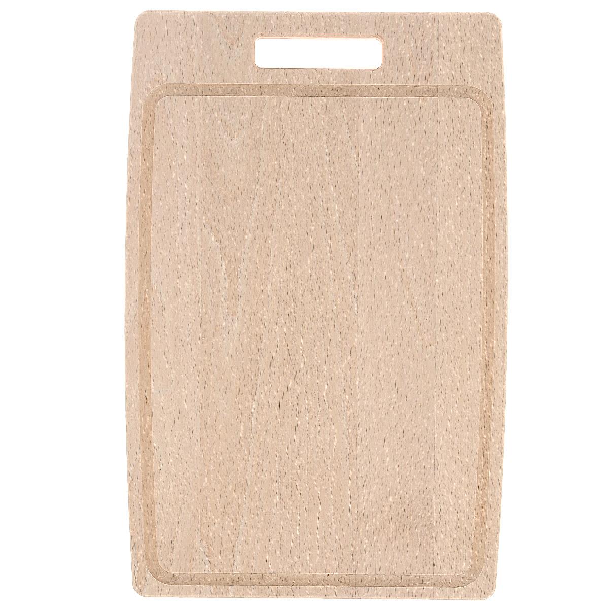 Доска разделочная Tescoma Home Profi, 30 х 20 смFS-91909Прямоугольная разделочная доска Tescoma Home Profi изготовлена из высококачественной древесины бука. Бук - это особо прочный материал, который прослужит вам долгие годы. Доска оснащена удобной ручкой.Функциональная и простая в использовании, разделочная доска Tescoma Home Profi прекрасно впишется в интерьер любой кухни. Не мыть в посудомоечной машине.