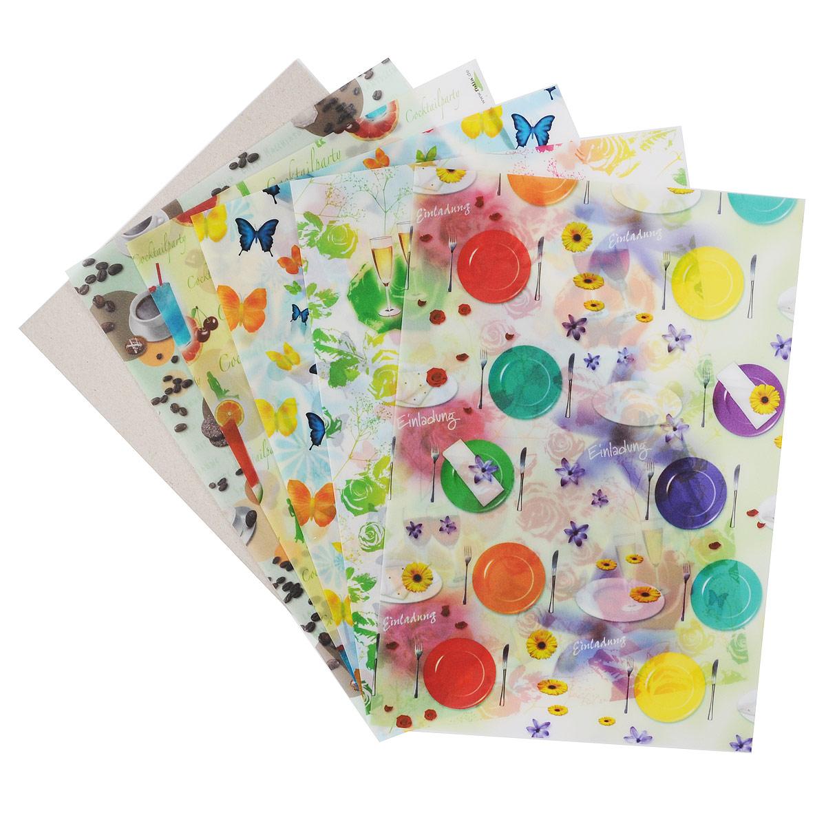 Транспарентная бумага Folia Вечеринка, 23 x 33 см, 5 листов7708084Транспарентная бумага Folia Вечеринка - полупрозрачная бумага с различными красивыми изображениями. Используется для изготовления открыток, для скрапбукинга и других декоративных или дизайнерских работ. Бумага прекрасно держит форму, не пачкает руки, отлично крепится. Конструирование из транспарентной бумаги - необходимый для развития детей процесс. Во время занятия аппликацией ребенок сумеет разработать четкость движений, ловкость пальцев, аккуратность и внимательность. Кроме того, транспарентная бумага позволит разнообразить идеи ребенка при создании творческих работ.