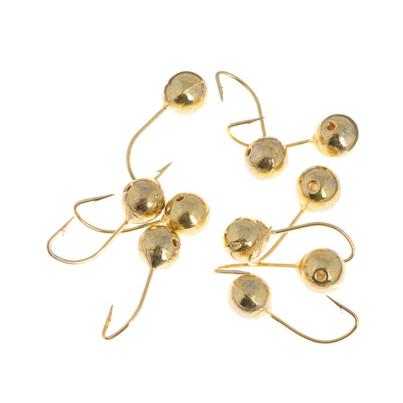 Мормышка вольфрамовая Dixxon-Russia, шар с отверстием, цвет: золотой, диаметр 4,5 мм, 0,8 г, 10 шт5751Мормышка Dixxon-Russia изготовлена из вольфрама и оснащена крючком. Главное достоинство вольфрамовой мормышки - большой вес при малом объеме. Эта особенность дает большие преимущества при ловле, так как позволяет быстро погрузить приманку на требуемую глубину и лучше чувствовать игру мормышки.Вес: 0,8 г.Диаметр: 4,5 мм.