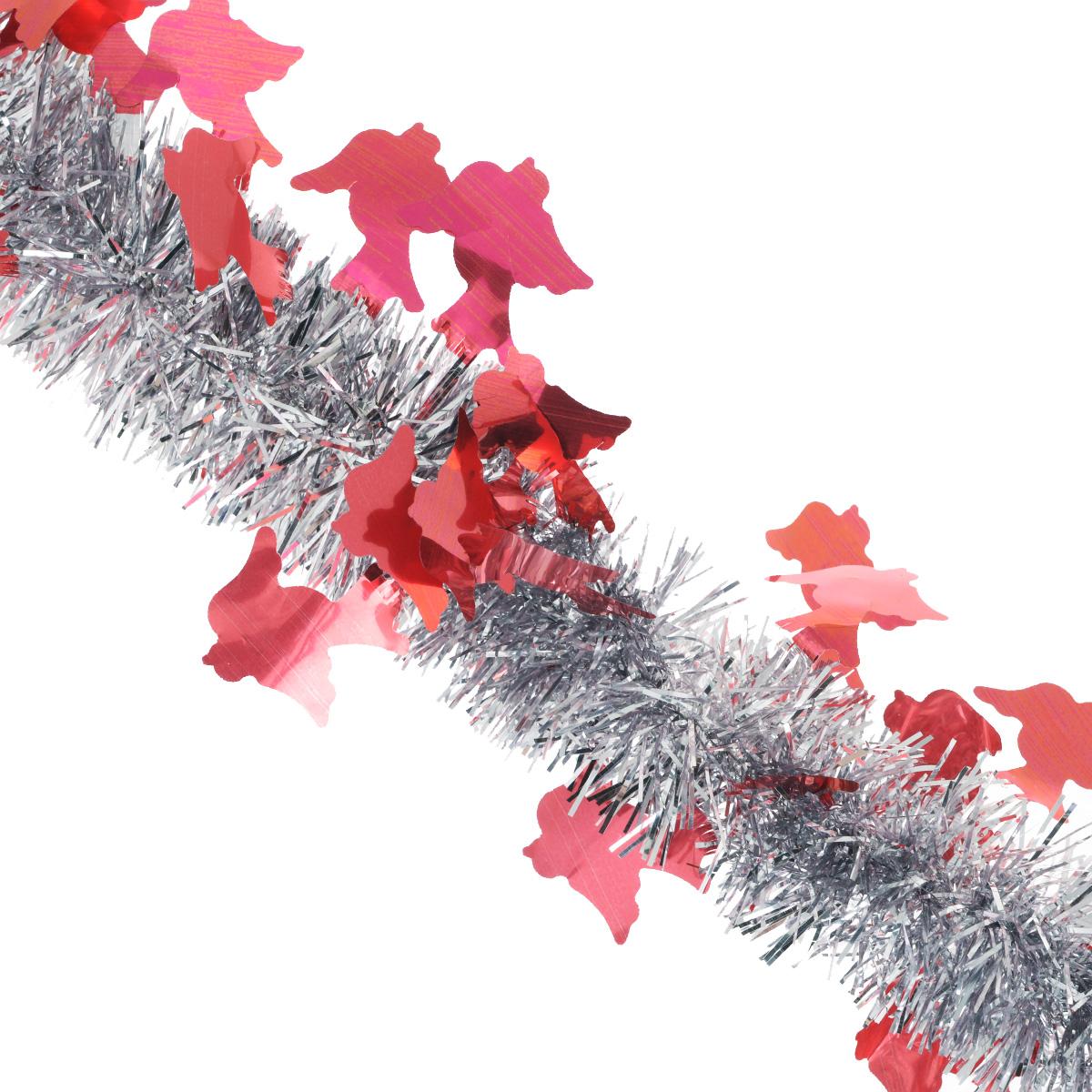 Мишура новогодняя Sima-land, цвет: серебристый, красный, диаметр 5 см, длина 2 м. 7026181125295Мишура новогодняя Sima-land, выполненная из двухцветной фольги, поможет вам украсить свой дом к предстоящим праздникам. Мишура армирована, то есть имеет проволоку внутри и способна сохранять приданную ей форму.Новогодняя елка с таким украшением станет еще наряднее. Новогодней мишурой можно украсить все, что угодно - елку, квартиру, дачу, офис - как внутри, так и снаружи. Можно сложить новогодние поздравления, буквы и цифры, мишурой можно украсить и дополнить гирлянды, можно выделить дверные колонны, оплести дверные проемы. Коллекция декоративных украшений из серии Зимнее волшебство принесет в ваш дом ни с чем несравнимое ощущение праздника! Создайте в своем доме атмосферу тепла, веселья и радости, украшая его всей семьей.