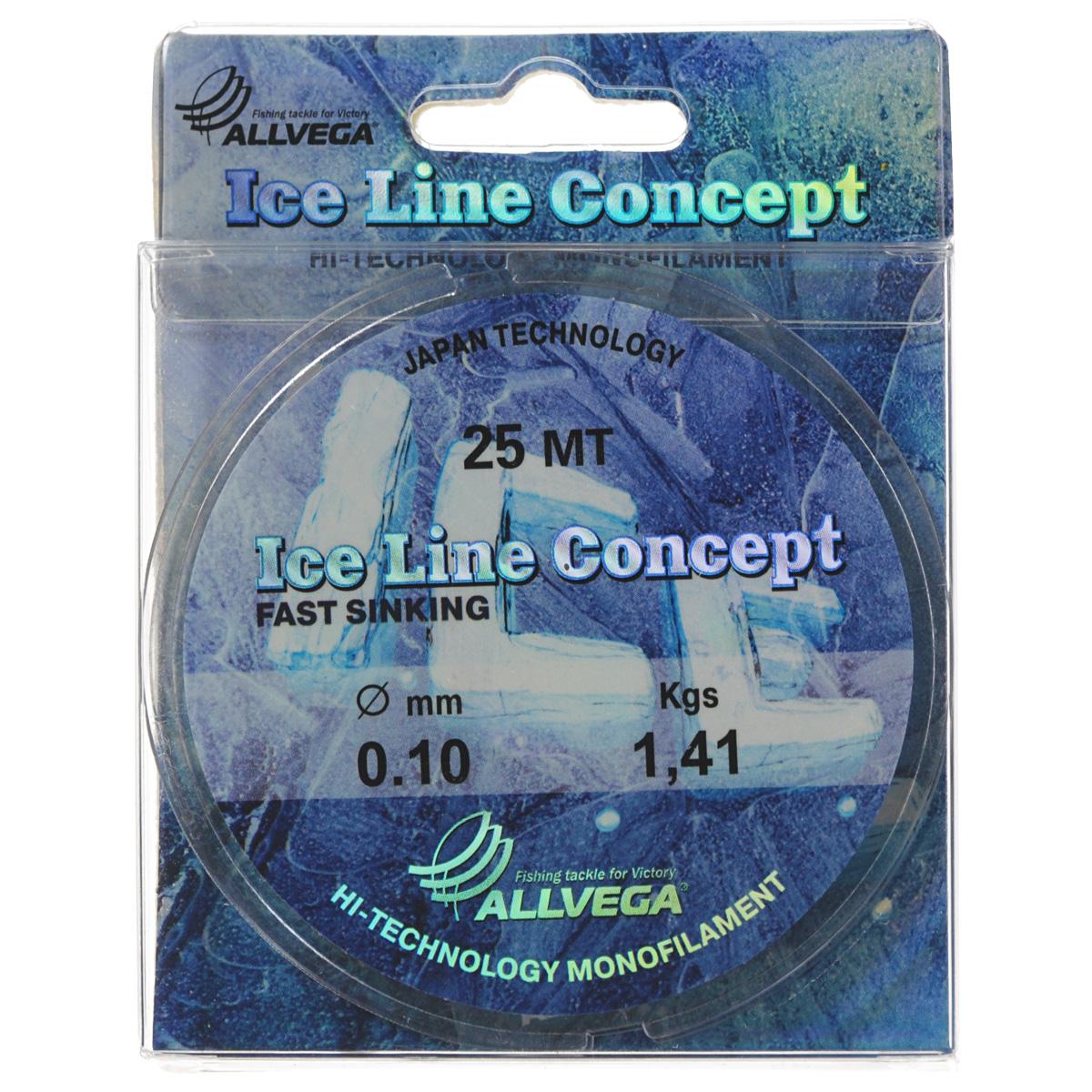 Леска Allvega Ice Line Concept, сечение 0,1 мм, длина 25 м36161Специальная зимняя леска Allvega Ice Line Concept для низких температур. Прозрачная и высокопрочная. Отсутствие механической памяти, позволяет с успехом использовать ее для ловли на мормышку.
