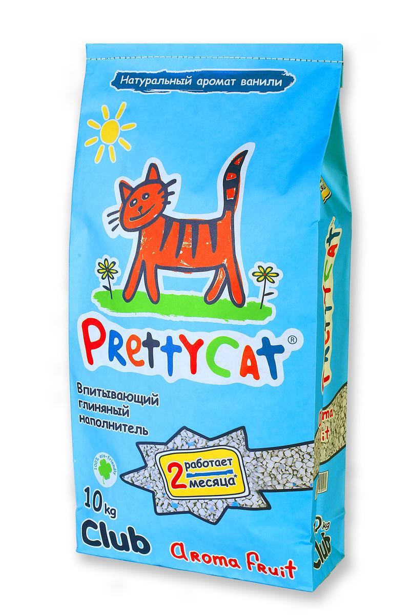 Наполнитель для кошачьих туалетов PrettyCat Aroma Fruit, с део-кристаллами, 10 кг021Наполнитель для кошачьих туалетов PrettyCat Aroma Fruit - это впитывающий глиняный наполнитель. Изготовлен из высококачественной цеолит глины, део-кристаллов, натуральных пищевых арома-масел. Это абсолютно экологически чистый продукт. Натуральные пищевые ароматизаторы с ароматом тропических фруктов и ванили безопасны для вашей кошки. От ее лапок всегда будет вкусно пахнуть ванилью. Глиняные гранулы прекрасно впитывают жидкость, предотвращают размножение бактерий и обеспечивают обеспыливание. Особые део-кристаллы устраняют запах, оставляя только фруктовый аромат. Благодаря новой формуле одной пачки хватает до 2-х месяцев. Антибактериален.Впитывающий глиняный наполнитель нравится абсолютно всем кошкам и их хозяевам.