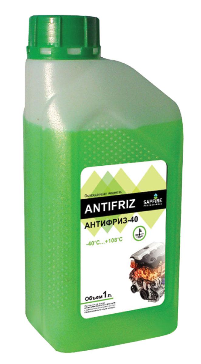 Антифриз Sapfire, готовый, цвет: зеленый, 1 л