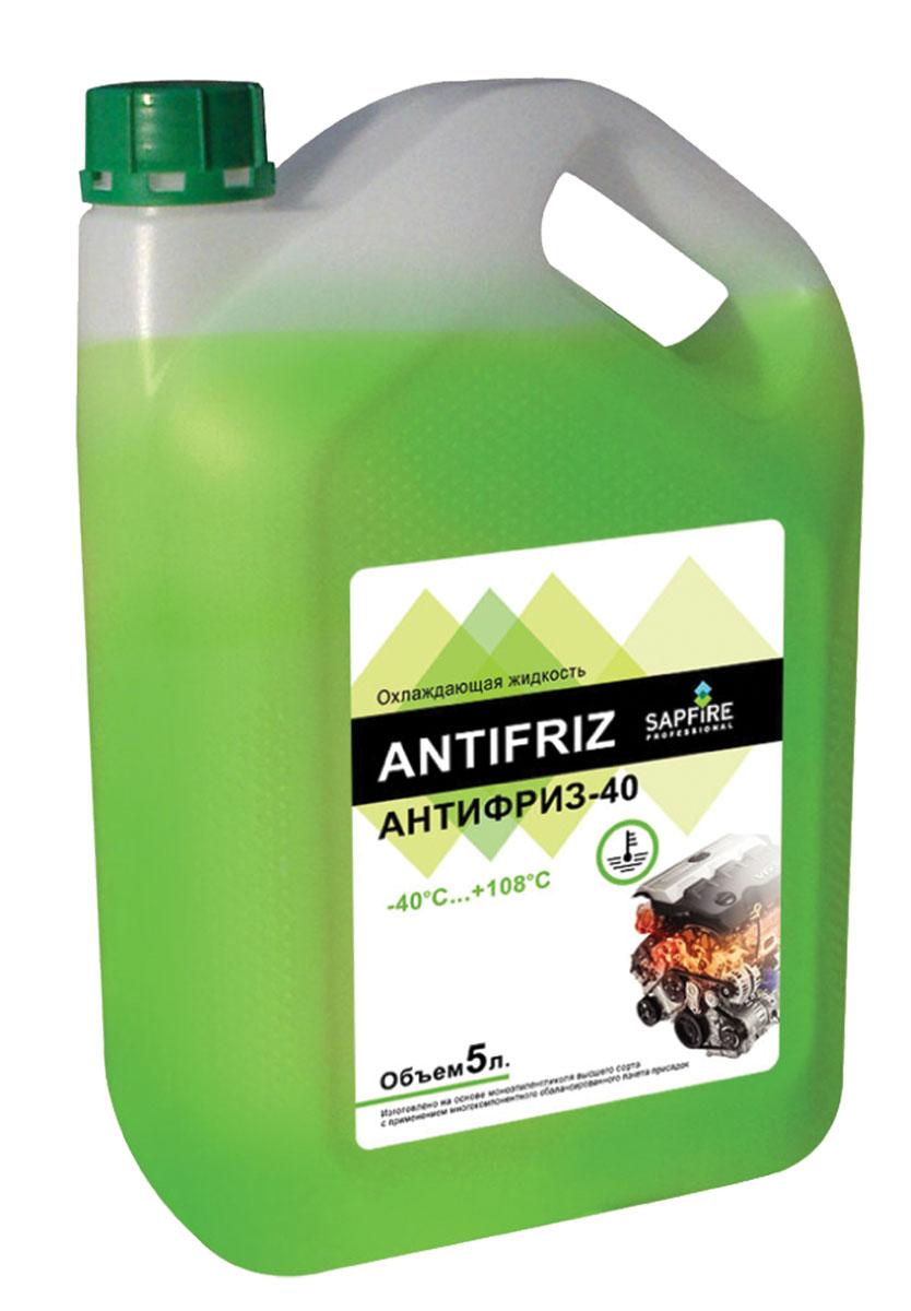 Антифриз Sapfire, готовый, цвет: зеленый, 5 л