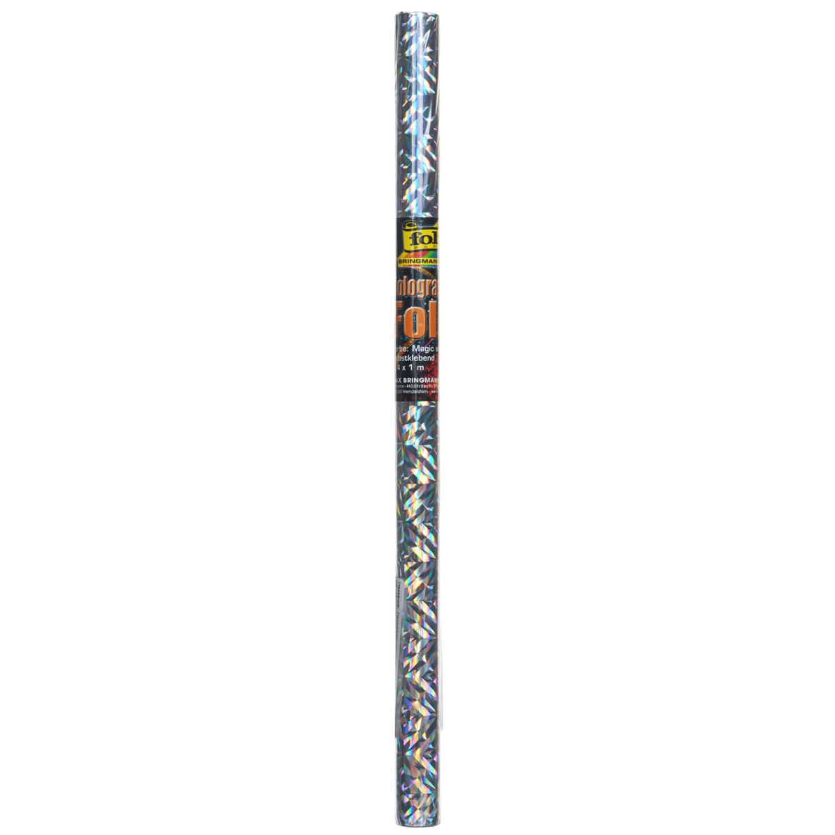 Голографическая бумага Folia Магия, самоклеящаяся, цвет: серебристый, 40 x 100 см7708000Голографическая самоклеящаяся бумага Folia Магия - переливающаяся бумага, которая используется для изготовления открыток, для скрапбукинга и других декоративных или дизайнерских работ. Благодаря клейкой основе изделие также можно использовать для декорирования мебели и прочего.Бумага не пачкает руки и отлично крепится. Конструирование из такой бумаги - необходимый для развития детей процесс. Во время занятия аппликацией ребенок сумеет разработать четкость движений, ловкость пальцев, аккуратность и внимательность. Кроме того голографическая бумага позволит разнообразить идеи ребенка при создании творческих работ.Размер листа: 40 см х 100 см.