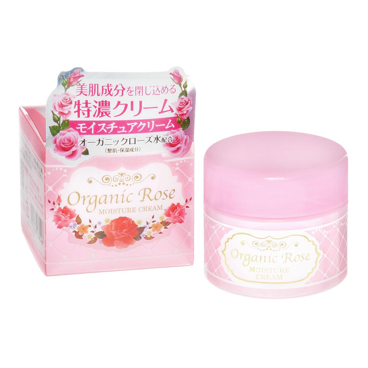 Meishoku Крем для лица Organic Rose, увлажняющий, с экстрактом дамасской розы, 50 г9665Насыщенный увлажняющий крем эффективно защищает кожу от проблем, связанных с сухостью, восстанавливая защитный барьер и создавая невидимую пленку. Делает кожу упругой и эластичной.В состав крема входит экстракт ячменя, удерживающий влагу в коже, масло Ши –защитный компонент, а также цветочную воду дамасской розы - компонент, нормализующий состояние кожи.Экстракт дамасской розы освежает и тонизирует уставшую кожу, насыщает ее витаминами. Товар сертифицирован.