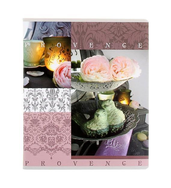 Полиграфика Тетрадь, 96л Provence роза с птичками35489_розаПолиграфика Тетрадь, 96л Provence роза с птичками