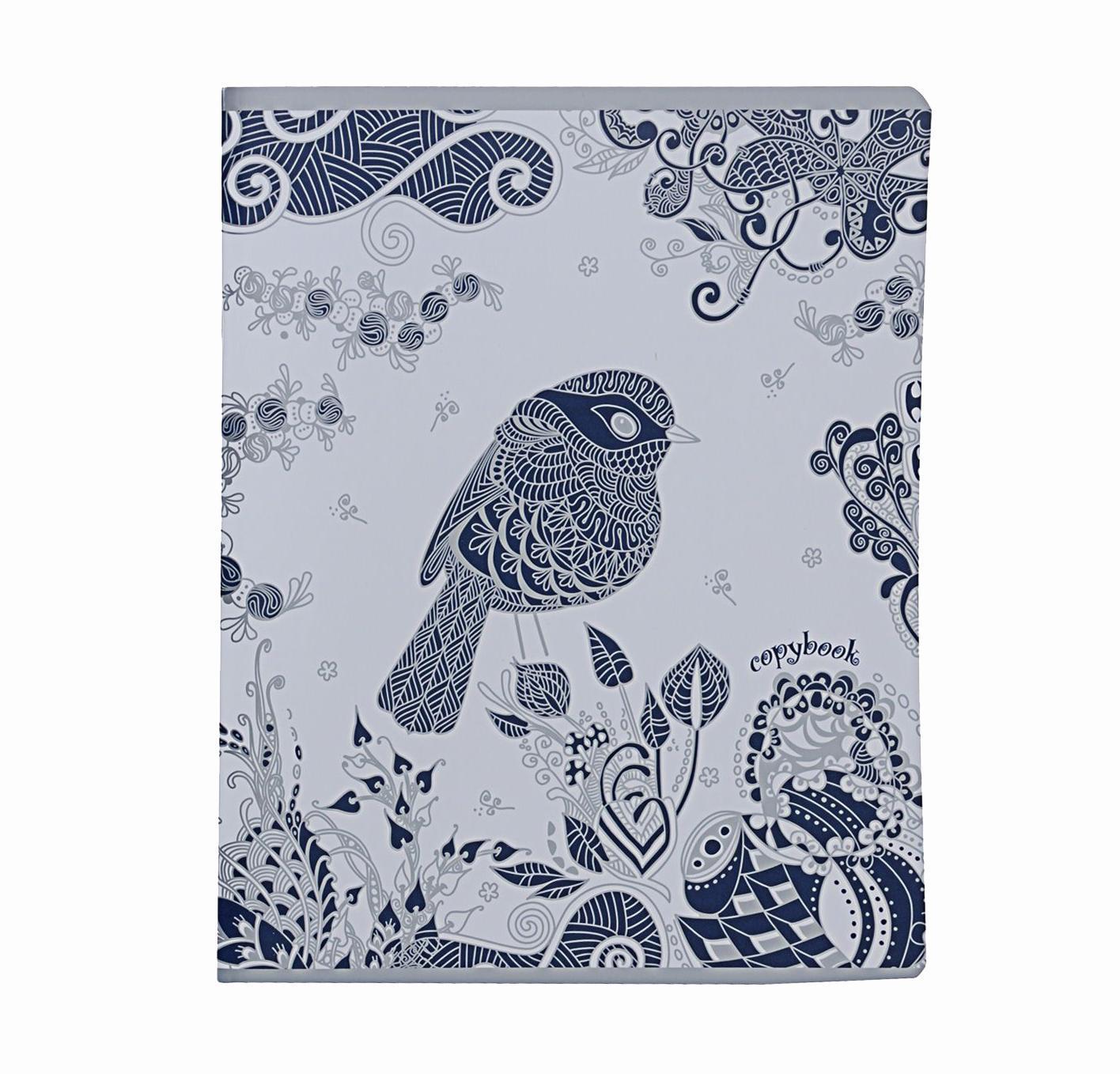 Тетрадь, 96л Сказочные птицы,цвет: белый72523WDтетрадь,96л Сказочные птицы, цвет: белый