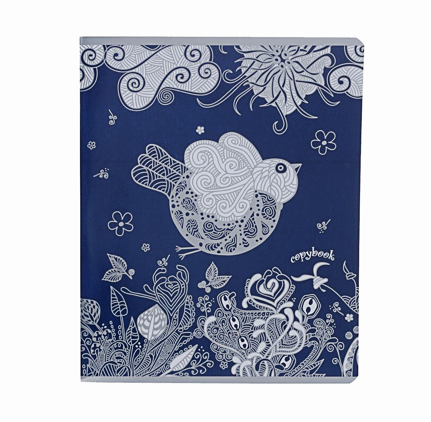 Тетрадь, 96л Сказочные птицы,цвет: синий72523WDтетрадь,96л Сказочные птицы, цвет: синий