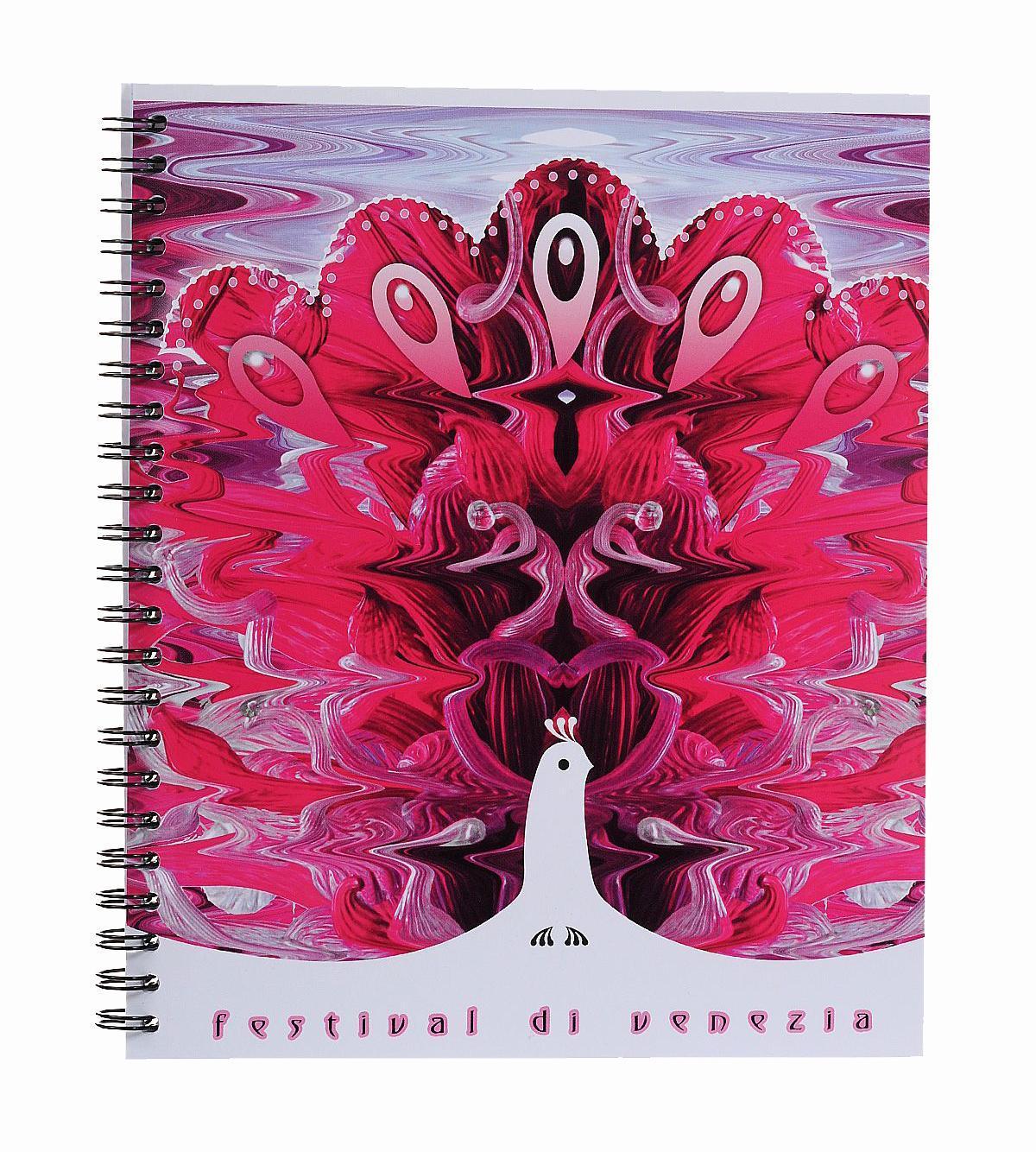 Тетрадь на спирали, 80л Муранское стекло,УФ-лак,розовый37626 розовыйтетрадь на спирали,80л Муранское стекло, УФ-лак, розовый