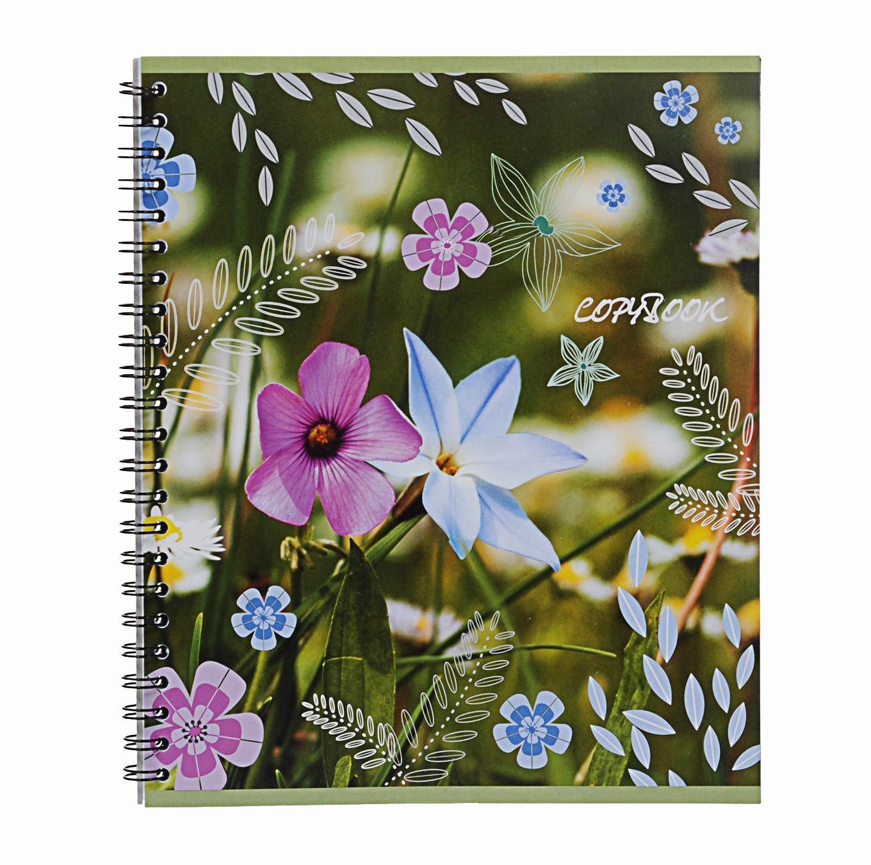 Тетрадь на спирали, 60л Полевые цветы голубые,розовые72523WDтетрадь на спирали,60л Полевые цветы голубые, розовые