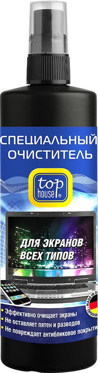 Очиститель для экранов всех типов Top House, 250 мл30320Очиститель для экранов всех типов Top House предназначен для качественной очистки и повседневного ухода за TFT и плазменными панелями, ЖК-телевизорами, LCD-мониторами, проекционными телевизорами, ноутбуками, планшетами, смартфонами, цифровыми фоторамками. Специально разработан в Германии по современной технологии и с учетом рекомендаций крупнейших производителей компьютерной техники, аудио-видео техники и оргтехники. - Идеальное средство для очистки ВСЕХ типов экранов- Легко и быстро очищает, эффективно удаляет любые загрязнения (пыль, следы от пальцев, никотиновую пленки, пятна жира и др.) - Не повреждает защитное покрытие экранов- Обладает длительным антистатическим эффектом- Не оставляет разводов и пятенСостав: менее 5% неионные ПАВ, растворитель (бутилгликоль), антистатик, ароматизаторы, обессоленная вода, консерванты (бензизотиазолинон, метилизотиазолинон). Товар сертифицирован.