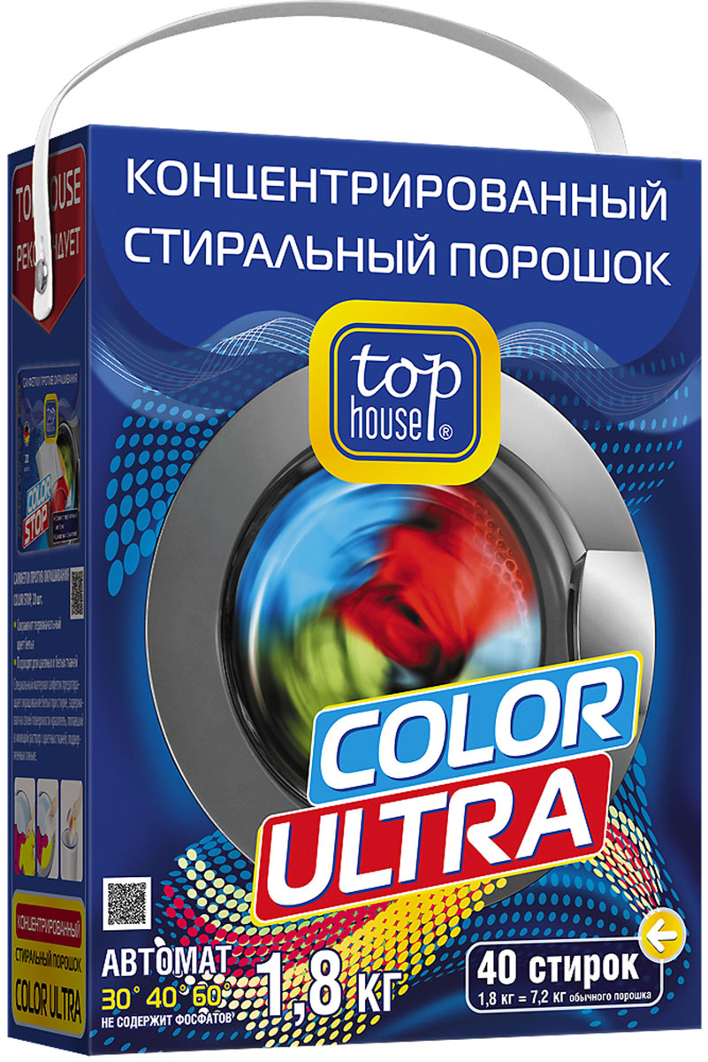 Стиральный порошок Top House Color Ultra, концентрат, 1,8 кг top house color ultra 4 5кг