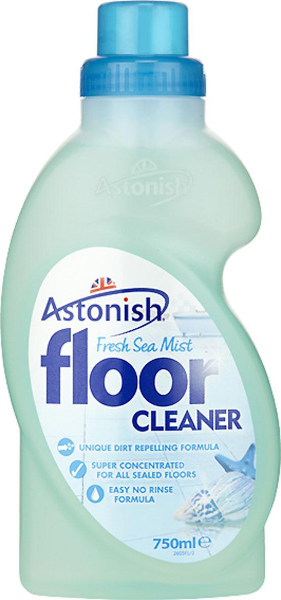 Средство для очистки полов Astonish Океан, 750 мл790009Концентрированное жидкое средство для очистки полов Astonish Океан предназначено для мытья полов с покрытием из винила, линолеума и керамической плитки. Средство легкое в применении, не требует смывания. Специально разработанная формула великолепно очищает всевозможные загрязнения и придает полам сияющую чистоту и свежесть. Состав: менее 5% неионные ПАВ, мыло, консервант - бромонитропропандиол, ароматизатор. Товар сертифицирован.
